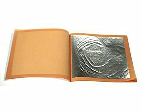 100% Genuine Edible Silver leaf 50 sheets by silverleaf