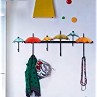 NBE Decorative iron hooks & creative in receipt of personalized wall hooks Coat hooks linked to the hook (color: Rainbow)