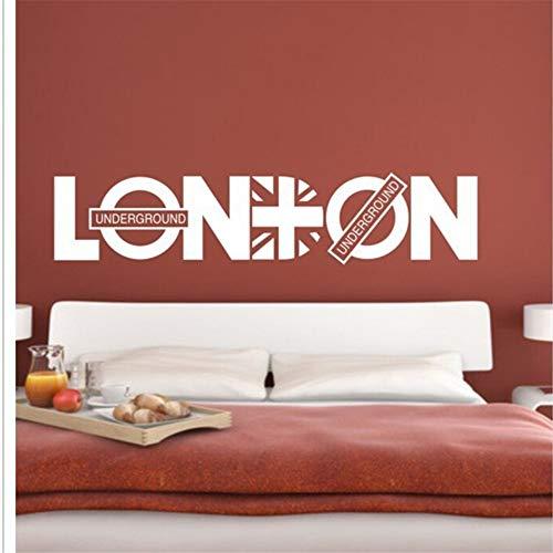 Zxfcczxf Englisch Brief London Wall Art Aufkleber Aufkleber London Wand Zitat Dekor Poster Wohnzimmer Schlafzimmer Dekoration Tapete Aufkleber