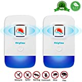 Hkiytime Ultrasonic Pest Repeller, Plug in Insect Repeller,2 Pack Ultrasonic Pest Control Repellent