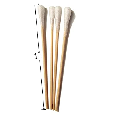 "Vinallo 1000pcs Cotton Swabs 4"" Wood Stick For Medical Wound Care Skin Clean Widely Used At School Office Home"