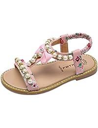 67f99904e Fossen Verano Niñas Sandalias de Bowknot Pearl Crystal Bohemia Princess  Zapatos
