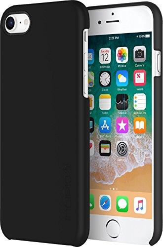 Incipio Feather Schutzhülle für Apple iPhone 8/7 - schwarz [Ultra dünn | Sehr leicht | Matte Soft-Touch Oberfläche] - IPH-1676-BLK