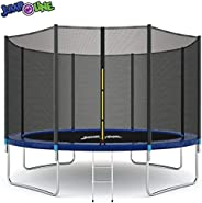 Jumpoline Trampoline with Ladder, 14-Feet Size, Blue/Black, NJ-BIG 14