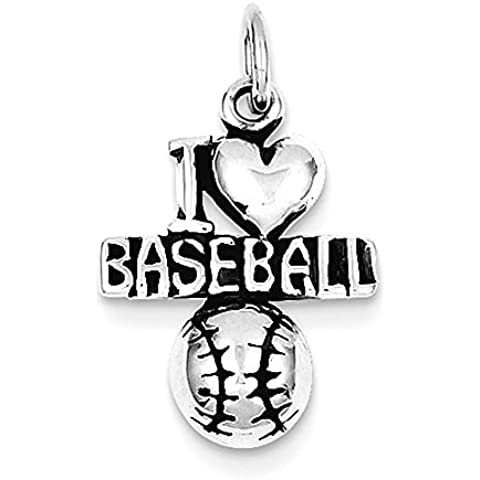 Sterling Silver Antique I (cuore) Baseball
