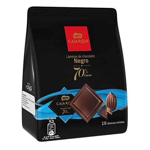 NESTLÉ Láminas Chocolate Negro 70% Láminas en Bolsa - Paquete 6 x 125 gr - Total: 750 gr