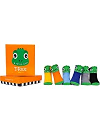 Trumpette T-Rex Dinosaurs Baby Socks Set - 0-12 Months - Gift Boxed
