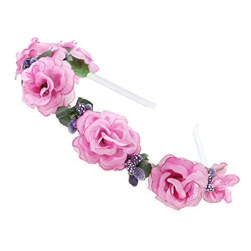 DIY Bouquet Haar Ring Stirnband PE Blume Kleine Rose Blume Krone Stirnband Mädchen Frauen Braut Haarschmuck Purple