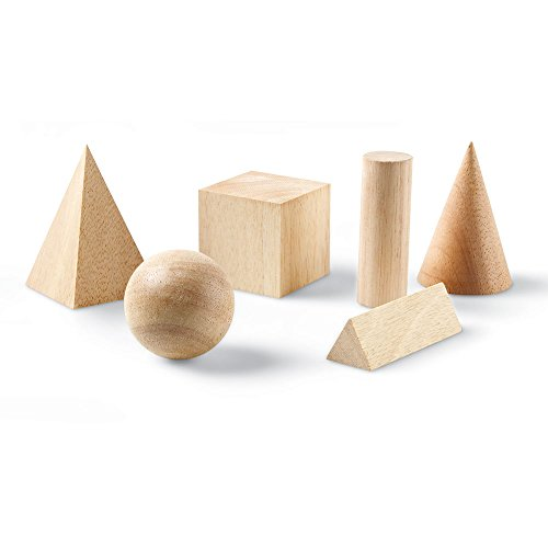 Learning Resources Wooden Geometric Solids (Set of 12)