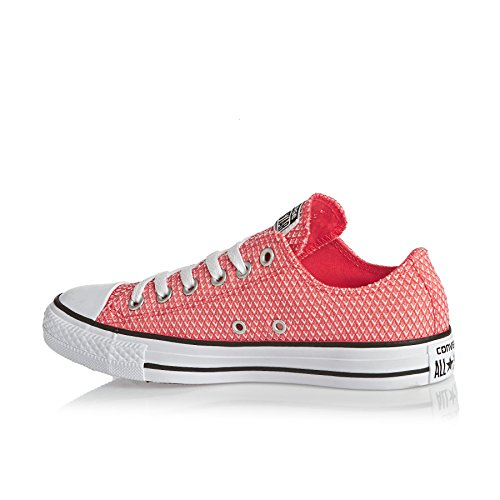 Converse All Star Ox Femme Baskets Mode Rouge Rouge
