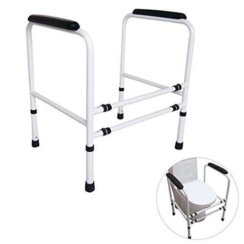 Buri Toiletten-Stützgestell höhenverstellbar 64x48cm Stütze Hilfe Toilettenhilfe