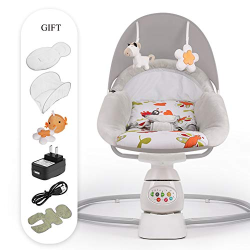 Baby Schaukel Stuhl Baby Elektrische Wiege Schaukel Stuhl Deck Stuhl Befrieden Baby der Magie Gerät Schlaf In Die Neugeborenen Wiege,Gray