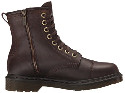 Dr.Martens Mens Mace 8 Eyelet Wyoming Polished Leather Boots Marron