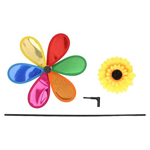 Lamdoo Pailletten Sonnenblume Garten Windmühle Wind Spinner Fenster Heim Hof Dekor Kinder Spielzeug