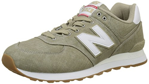 New Balance Herren Ml574v2 Sneaker, Elfenbein (Beige), 50 EU