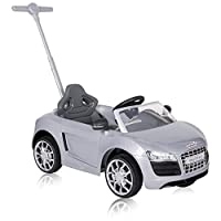 ROLLPLAY Push Car with Adjustable Footrest, For Children 1 Year and Older, Up to 20 kg, Audi R8 Spyder, Silver