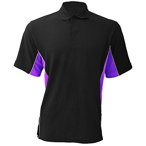Gamegear Cooltex Active Herren Polo-Shirt, Kurzarm Schwarz/Orange/Weiß