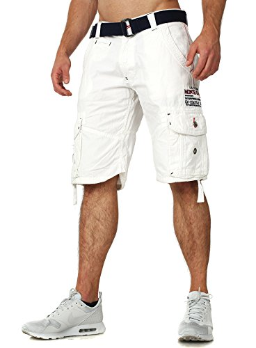 Short Vêtements Geographical Norway Homme court Pantalon Hommes Blanc