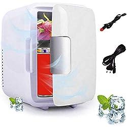 Perfuw Mini Réfrigérateur de Refroidissement et de Chauffage (Double Usage), Portable Petit Mini Frigo électrique DC 12V/AC 230V, Calme pour Chambres/Bureau/Trajets Routiers/Camping (4 Liters)