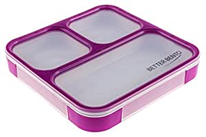 better bento lunch box great for school portion control. Black Bedroom Furniture Sets. Home Design Ideas
