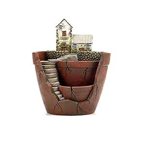 GoodFaith Maceta para plantas y plantas suculentas DIY contenedor decorado con hadas, decoración de vacaciones