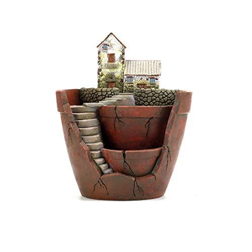 Takefuns Pot de Fleurs Plantes succulentes pour décoration de Jardin féerique Décoration de Vacances, Pot de Fleurs Plantes succulentes, Résine, Plants Pot, Plants Pot