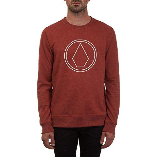 Volcom Herren Sweater Stone Crew Sweater Fleece-screen Print Pullover