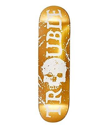Trouble Skateboards-Brett/Deck, Gold/blanko, 8,25 (D5)