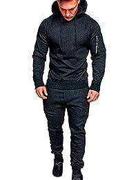 13216b5656 Homme Camouflage Survêtement Ensemble Pantalon de Sport Sweatshirt à  Capuche Jogging, Polyester, Extérieur Sports Jogging…