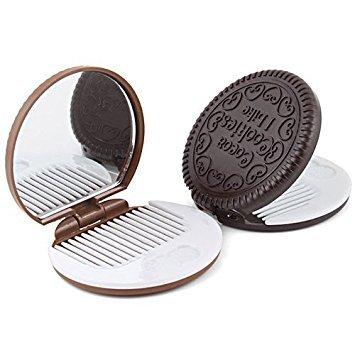 Katara - Miroir de Poche En Forme De Biscuits Chocola