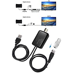 EEEKit HDTV Amplificateur d'antenne Signal Amplificateur HDTV TV Antenne avec Kits d'alimentation USB