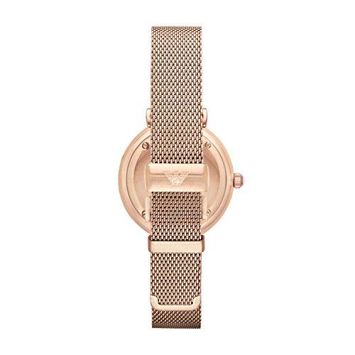 3c69aca80a77 ... Emporio Armani Gianni T-Bar - Reloj análogico de cuarzo con correa de chapada  en ...