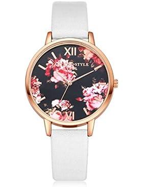 Sunnywill Frauen Mädchen Damen Schöne Mode Design Analog Quarz Armbanduhren Uhr für Weibliche (White)