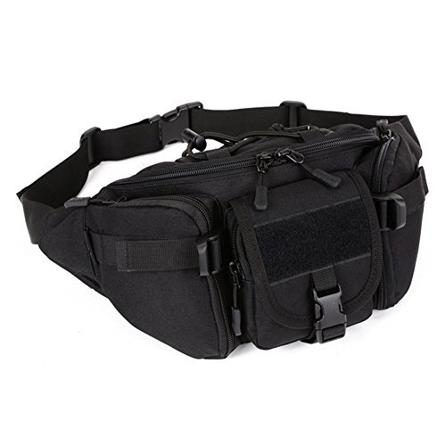 ZMLSXU Mode Taille Pack Hommes et Femmes Usage Quotidien Multifonctionnel Taille Pack Hip Bag Messenger Bag Noir