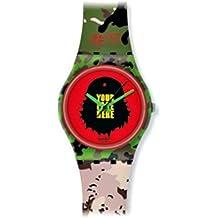 kidrobot for Swatch GB251 - Reloj analógico unisex de cuarzo con correa de silicona multicolor