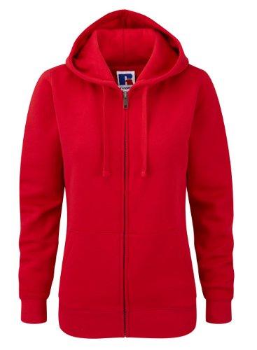 Z266F Damen Authentic Hooded Sweatjacke Sweatshirtjacke Jacke mit Kapuze, Größe:M;Farbe:Classic Red