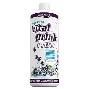 Best Body Nutrition Vital Drink, Schwarze Johannisbeere, 1000ml Flasche