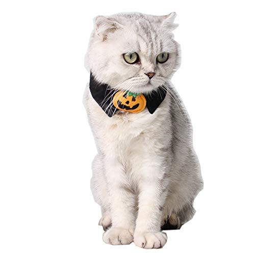 Xigeapg Halloween Haustier Hund Kostuem Halloween Urlaub Halskette Halloween Katze Zubehoer Schwarz Kuerbis - Urlaub Kostüm Für Hunde
