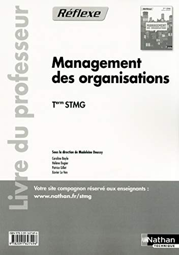 Management des organisations - Tle STMG