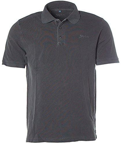 Signum Herren Pikee Poloshirt Polo T-Shirt Grau