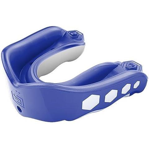 Shock Doctor Gel Max Flavor Fusion - Protector bucal de hockey sobre hielo, color azul