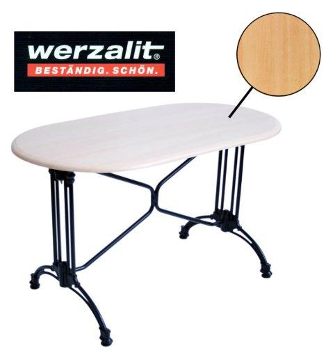 Werzalit Gastronomie Tischplatte Buche 120x65cm für Bistrotisch