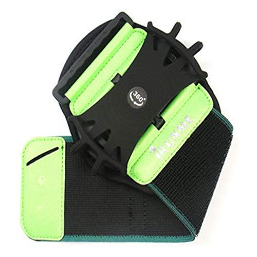 360 Grad drehbares Sportarmband Outdoor Reiten Laufen Wandern Armband Tasche grün -