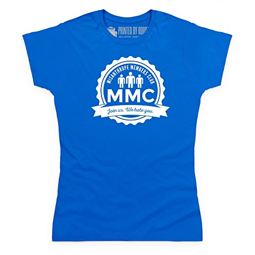 Misanthrope Members Club Light T-shirt, Donna, Blu royal, 2XL