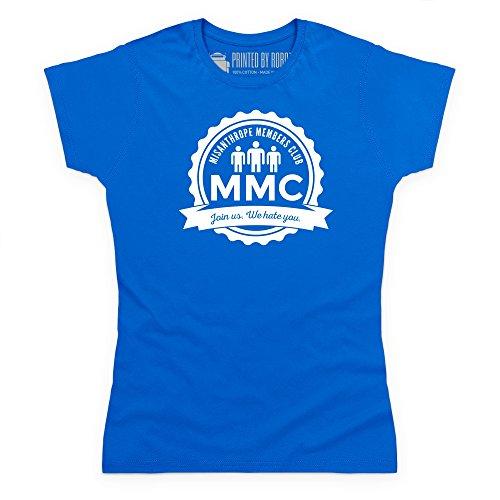 Misanthrope Members Club Light T-shirt, Donna, Blu royal, 2XL