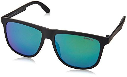 bad5a8c1e5 Carrera Ca5003st Rectangular Sunglasses Matte Black And Green Multilayer 57  Mm