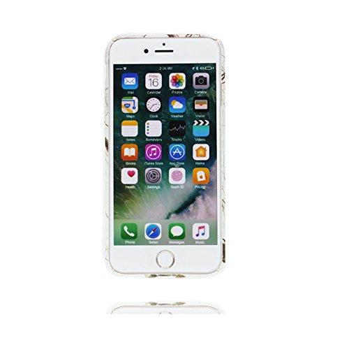 iPhone 7 Plus Custodia Case, iPhone 7 Plus Copertura 5.5, Disegno unico del materiale di TPU Cartoon Stylish Durable Indietro Cover, Graffi Resistenza agli urti # cane Bulldog elegante Color 7