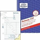Avery Zweckform 20 x Formularbuch Rechnung A6 hoch selbstdurchschreibend VE=2x40 Blatt