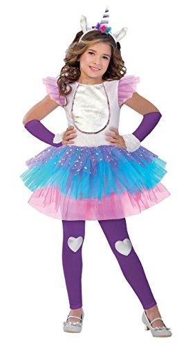 Fancy Me Mädchen niedlich 4 Stück Magisches Einhorn Mythisch Tier Kreatur Fest Karneval Kostüm Verkleidung 5-12yrs Jahre - Multi, 10-12 Years (Mythische Tier Kostüm)