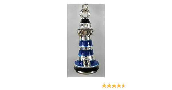 N A Leuchtturm Schlüsselanhänger Blau 9 X 3 5 Cm Ring 3 5 Cm Ø Keychain Anhänger Deko E13 Spielzeug
